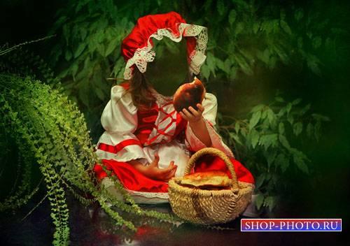 Шаблон для девочек - Красная шапка с пирожком