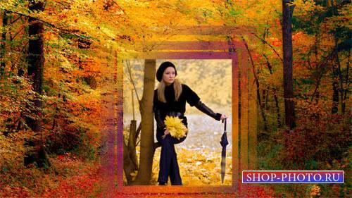 Рамка psd - Осенняя пора