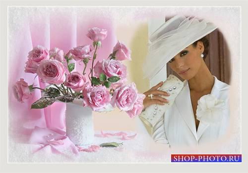 Рамка женская - Как хороши, как свежи были розы