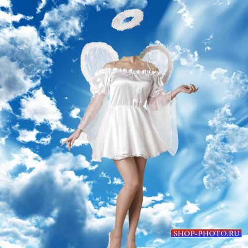 Шаблон для девушек - Девушка ангел