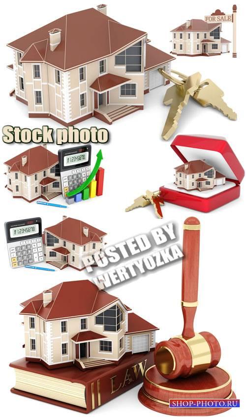 Дом, покупка и продажа / House for sale - stock photos