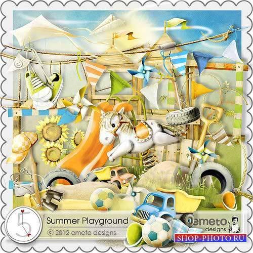 Детский скрап-комплект - Летняя площадка