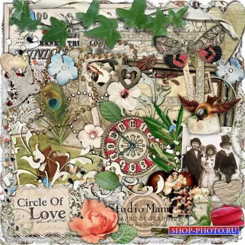 Романтический винтажный скрап-комплект - Круг любви