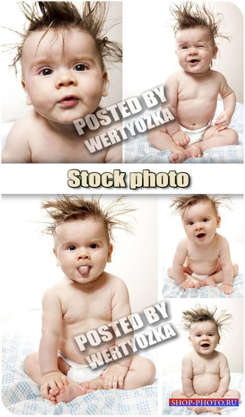 Забавный маленький ребенок / Funny little baby - stock photos