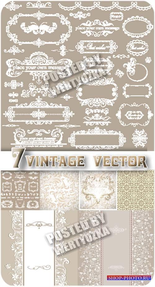 Винтажные орнаменты, цветочные фоны / Vintage ornaments, floral backgrounds ...