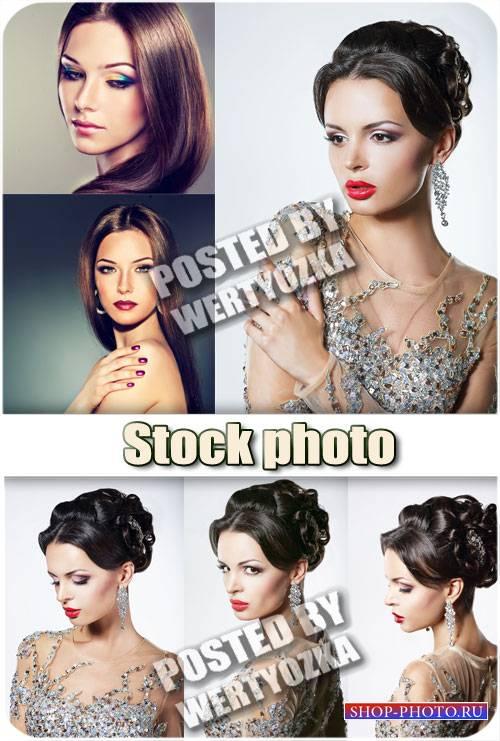 Девушки с красивыми прическами / Girl with beautiful hair styles - stock ph ...