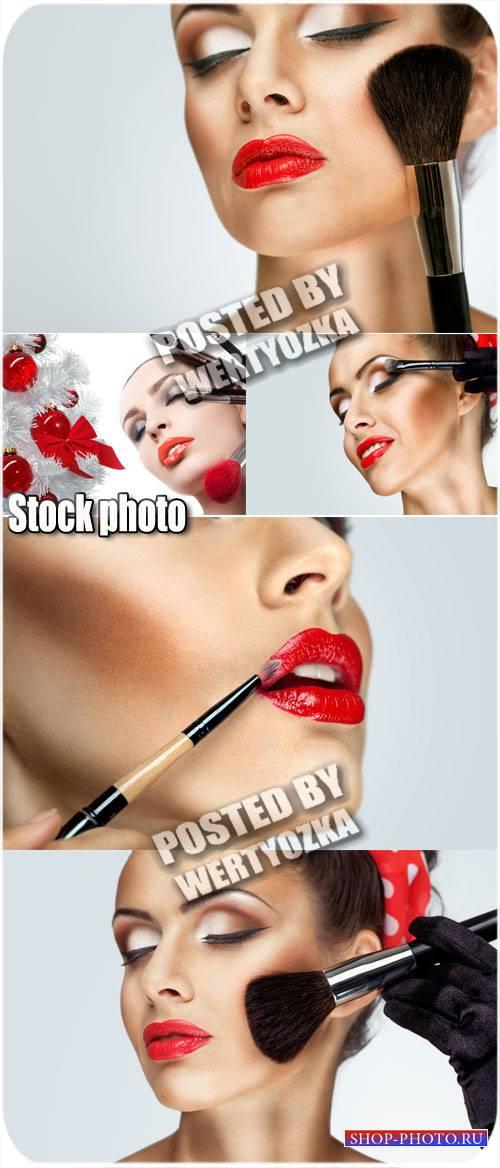 Девушки и красивый макияж / Girls and beautiful make-up - stock photos