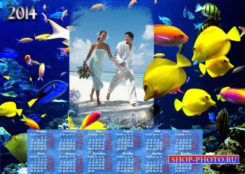 Настенный календарь - Наш водный мир