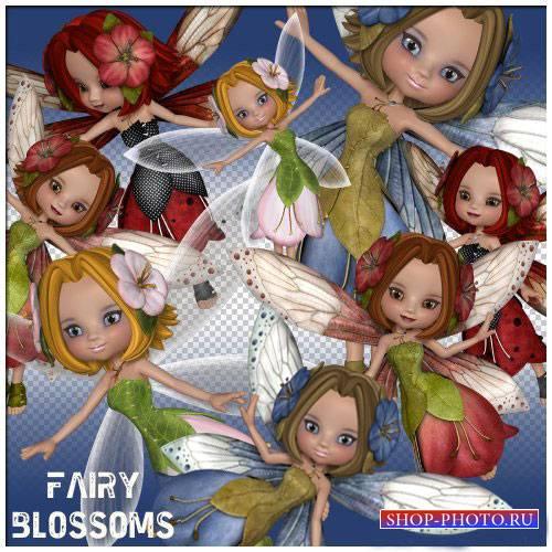 Сказочный 3D скрап-комплект - Цветочная фея
