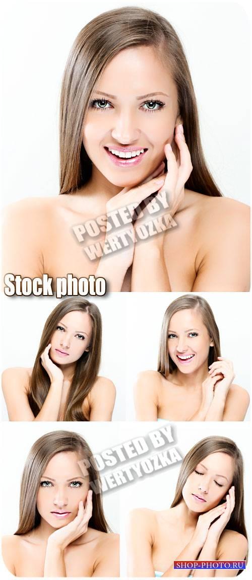 Девушка с красивой улыбкой / Girl with a beautiful smile - stock photos