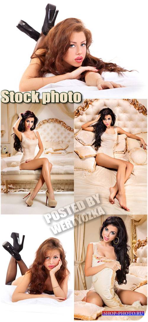 Девушки модельной внешности / Girl model looks - stock photos