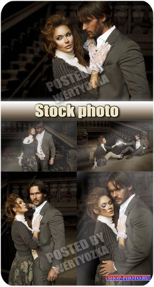 Стильная пара влюбленных / Stylish pair of lovers - stock photos