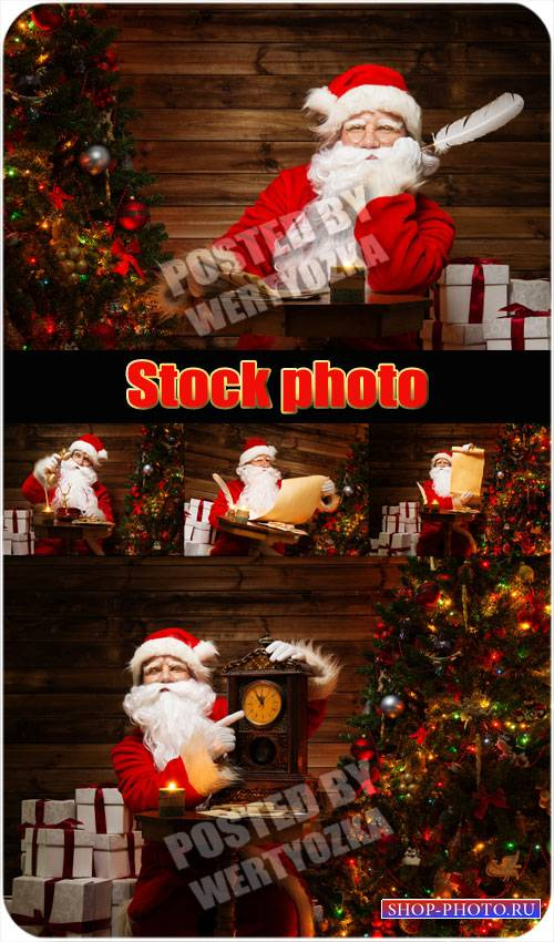 Санта клаус и новогодняя елка / Santa claus and christmas tree - stock phot ...