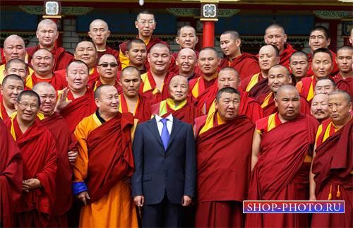Шаблон для фотошопа - Увлекательная поездка в Тибет