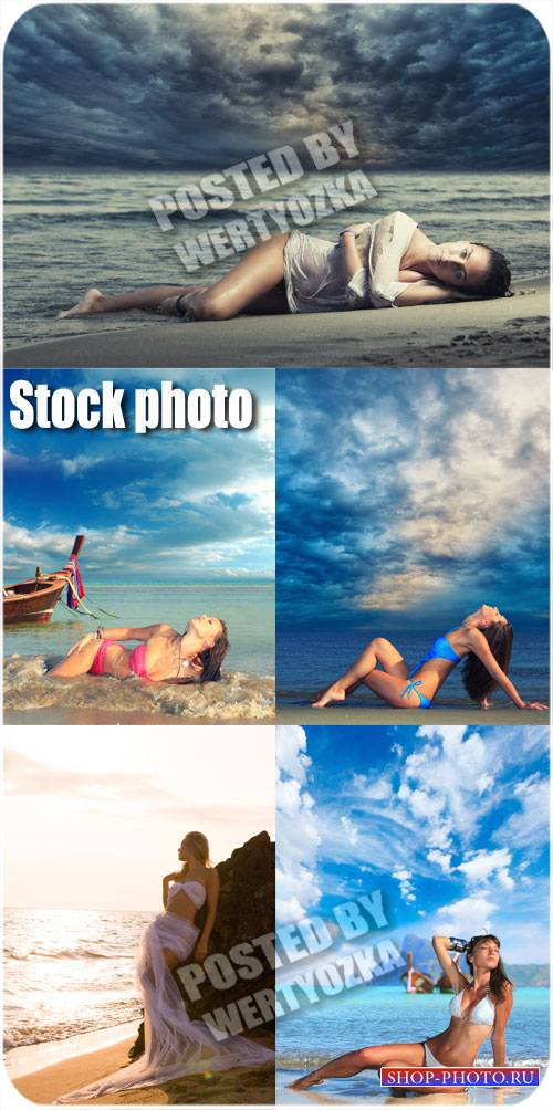 Девушки и море / Girl and the Sea - stock photos