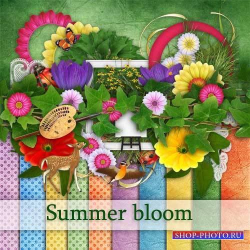 Прекрасный летний скрап-комплект - Цветущие летом