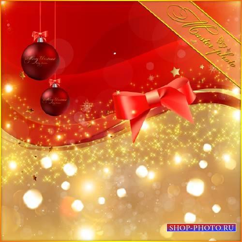Многослойный PSD исходник - Рождественский свет