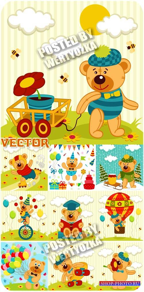 Забавный медвежонок / Funny Bear - Children vector
