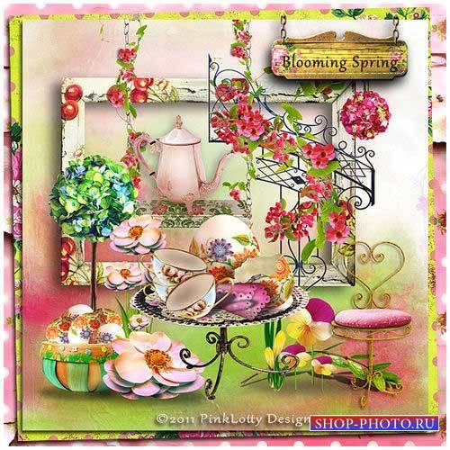 Романтический скрап-набор - Цветущая весна