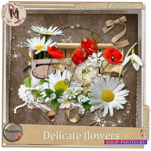 Цветочный скрап-комплект - Нежные цветы