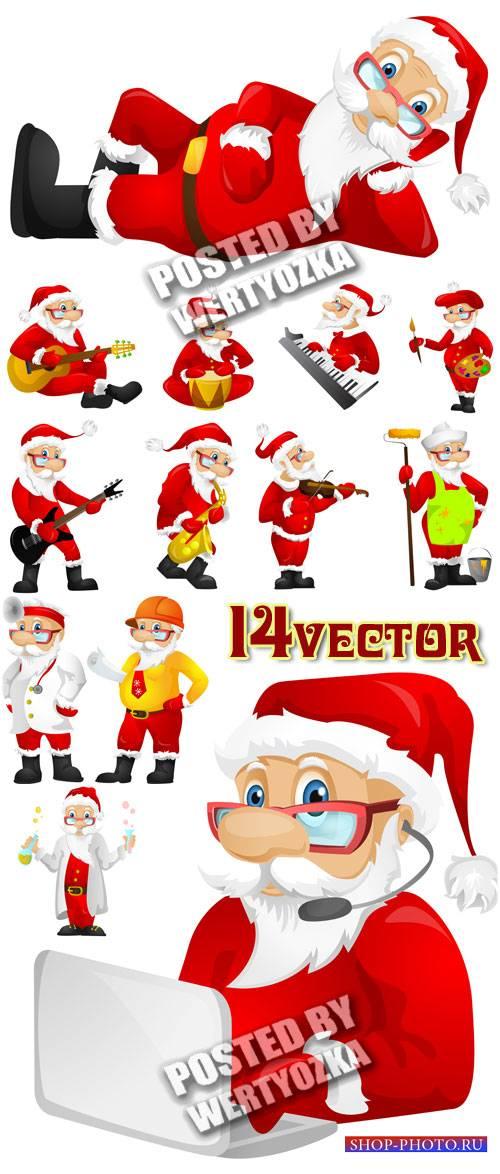 Санта Клаус - сток вектор