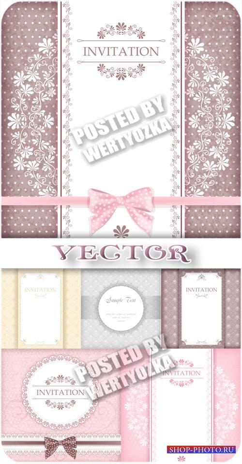 Красивые фоны для приглашений - вектор
