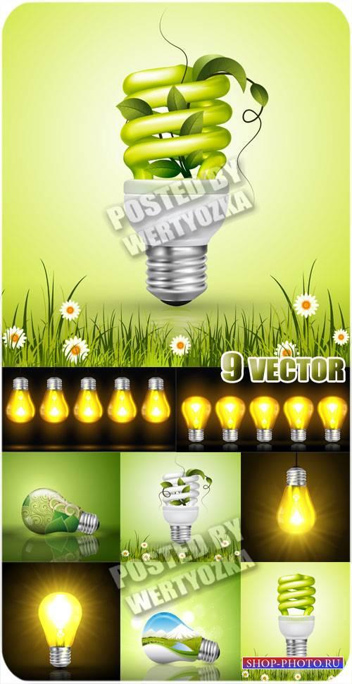 Лампочки - сток вектор