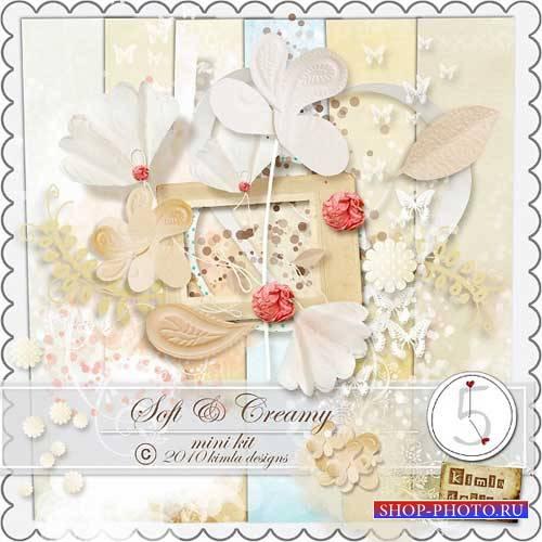 Романтический скрап-комплект - Мягкий кремовый