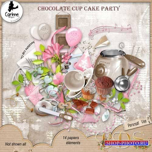 Кулинарный скрап-комплект - Шоколадный тортик