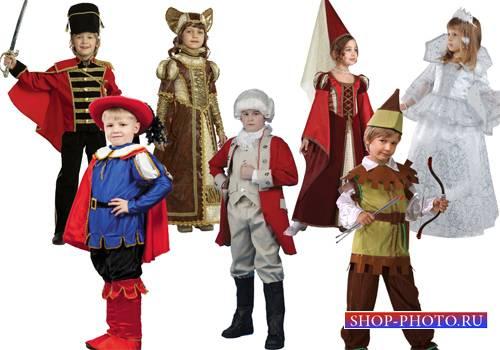 Клипарт - Новогодние детские костюмы