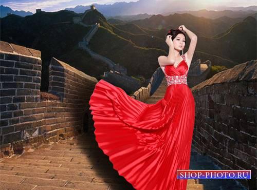 Шаблон  женский - Китайская роза