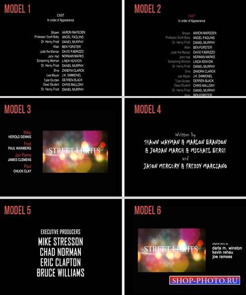 Проект для After Effects - 10 Film Credits