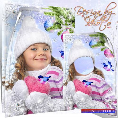 Шаблон для девочки - Встречаем зиму