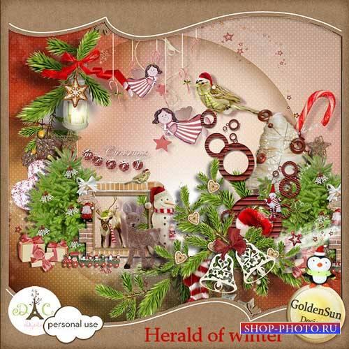 Рождественский скрап-комплект - Вестник Рождества