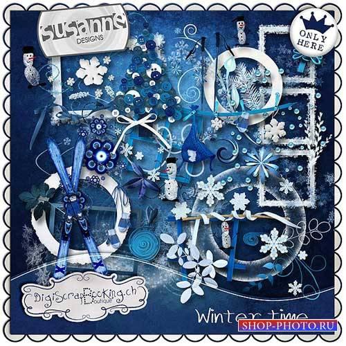 Зимний скрап-комплект - Зимнее время