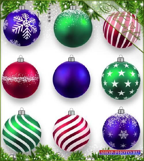 PSD исходник для photoshop - Новогодние шары