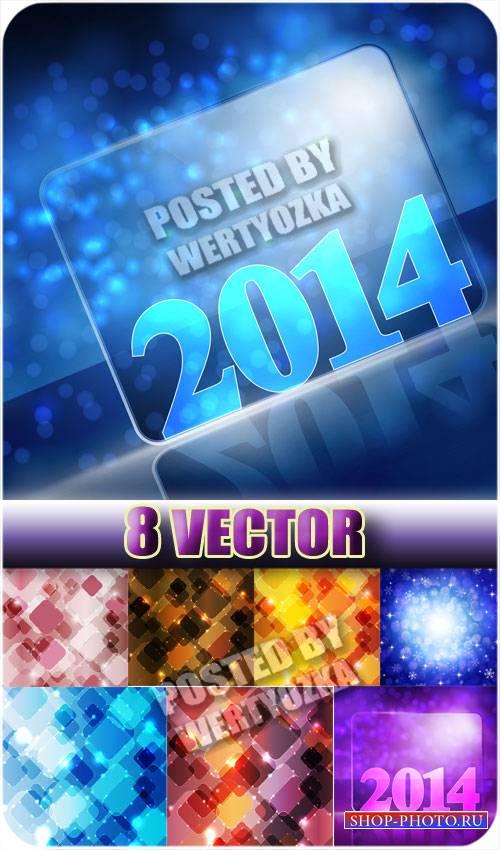 Сверкающие фоны 2014 - сток вектор