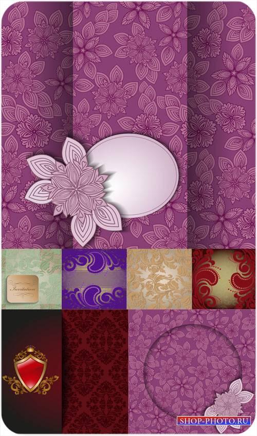Цветочные узоры, векторные фоны