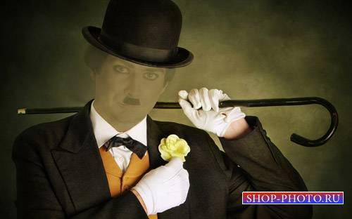 Шаблон для Photoshop - В костюме Начало XX века