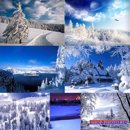 Клипарт для фотошопа - Белая зима