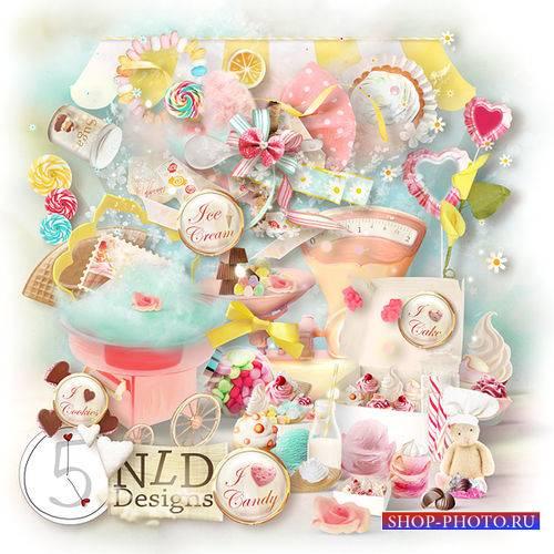 Детский скрап-комплект - Я люблю конфетки