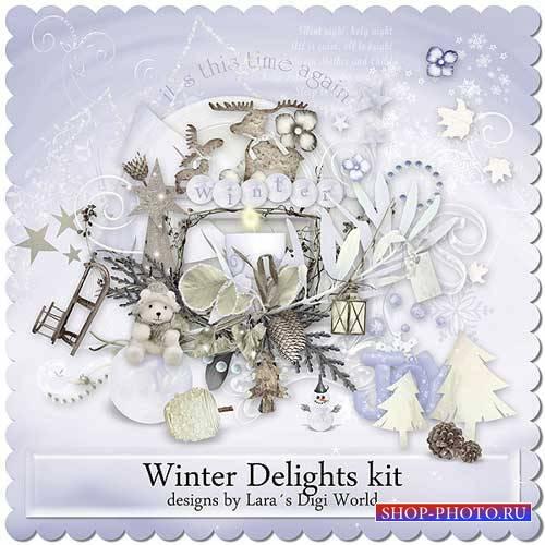 Зимний скрап-комплект - Восхитительная зима