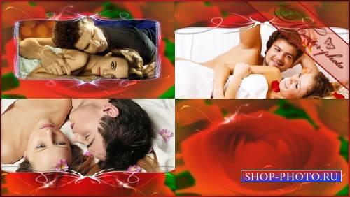 Футажей набор романтический - Алых роз букет