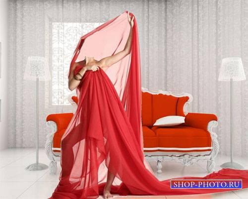 Женский шаблон - В красной ткани