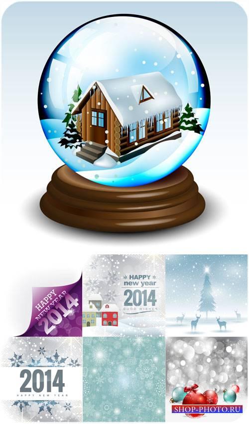 Красивые рождественские фоны 2014 - вектор