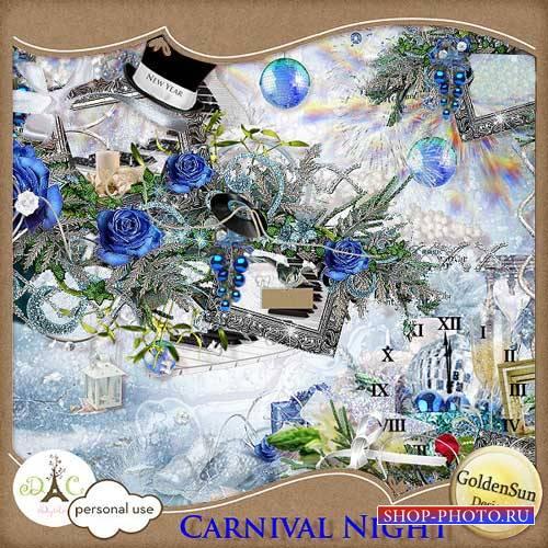 Праздничный новогодний скрап-комплект - Карнавальная ночка