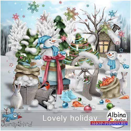 Зимний скрап-комплект - Прекрасный праздник