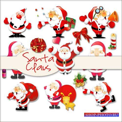 Новогодний скрап-комплект - Санта Клаус