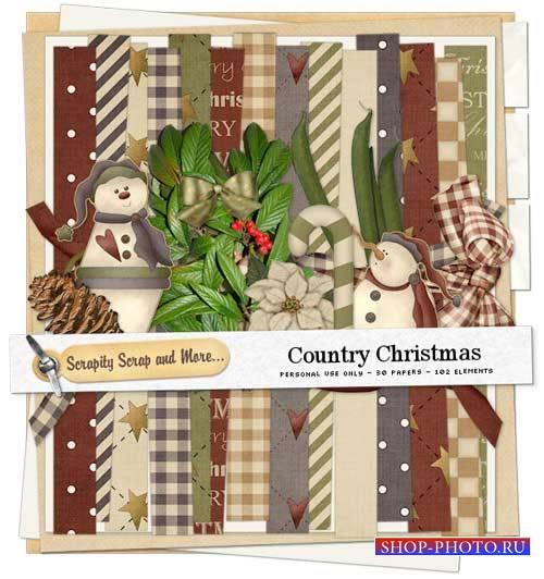Зимний скрап-комплект - Страна Рождества