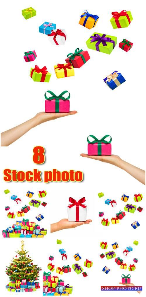 Подарки и новогодняя елка - сток фото